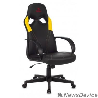 Офисное кресло или стул Кресло игровое Бюрократ ZOMBIE RUNNER черный/желтый искусственная кожа крестовина пластик 1456781