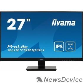 Монитор Iiyama 27'' XU2792QSU-B1 IPS 2560х1440 350cd 178/178 1000:1 5ms D-Sub DVI HDMI DisplayPort USB-Hub