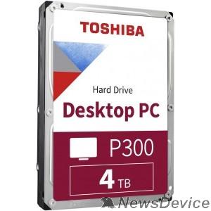 "Жесткий диск 4TB Toshiba P300 (HDWD240EZSTA) RTL SATA 6.0Gb/s, 5400 rpm, 128Mb buffer, 3.5"""
