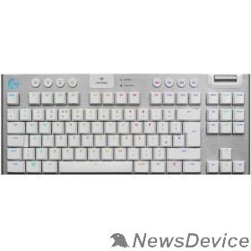 Клавиатура 920-010117 Logitech Клавиатура G915 TKL WHITE механическая, белый, беспроводная/проводная, RGB LIGHTSYNC, USB, Bluetooth, радиоканал