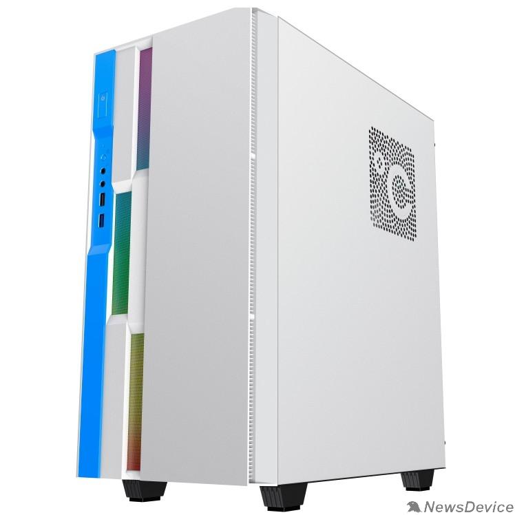Корпуса GameMax Корпус Brufen C3 WB без БП, MidiT, ATX, Бело-гол, Зак. стекл., USB 3.0, 1*120; 1*140мм вент.