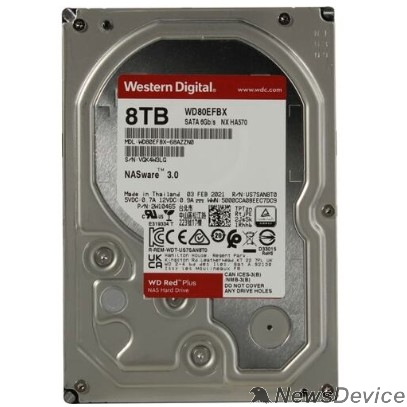 "Жесткий диск 8TB WD Red Plus (WD80EFBX) Serial ATA III, 7200- rpm, 256Mb, 3.5"", NAS Edition"