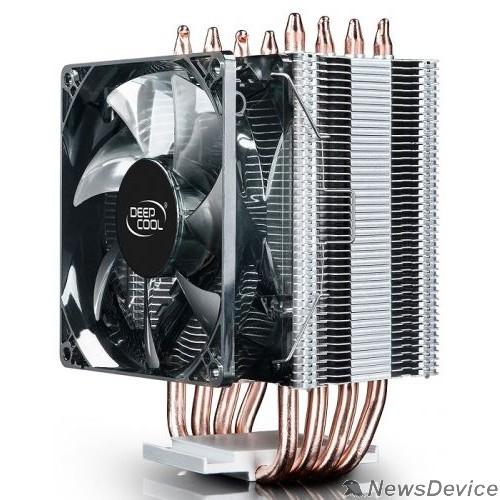 Вентилятор Кулер DEEPCOOL GAMMAXX C40 LGA20XX/1366/115X/AM4/AM3/+/AM2/+/FM2/+/FM1 (20шт/кор, TDP 130Вт, PWM, Fan 120mm, 4 тепл. трубки прямого контакта ) RET