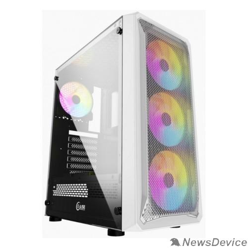 Корпус Powercase CMIZW-L4 Корпус Mistral Z4 White, Tempered Glass, Mesh, 4x 120mm 5-color LED fan, белый, ATX  (CMIZW-L4)