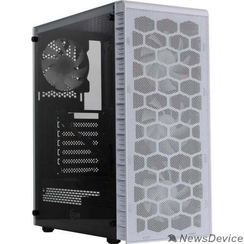 Корпус Powercase CMIZ4CW-L4 Корпус Mistral Z4 С White, Tempered Glass, Mesh, 4x 120mm 5-color LED fan, белый, ATX  (CMIZ4CW-L4)