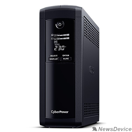 ИБП UPS CyberPower VP1200ELCD 1200VA/720W USB/RS-232/RJ11/45  (4 + 1 EURO)