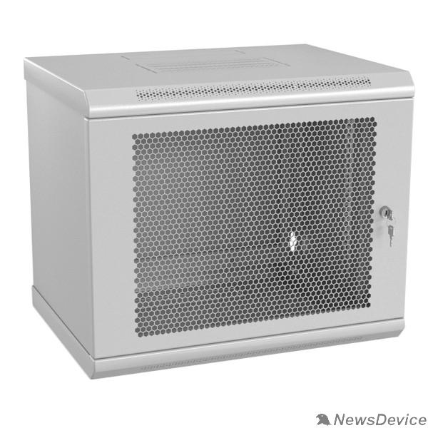 """Монтажный шкаф Hyperline TWL-1545-SD-RAL7035 Шкаф настенный 19-дюймовый (19""""), 15U, 775x600x450mm, металлическая перфорированная дверь, несъемные стенки, 1 пара профилей, цвет серый (RAL 7035) (собранный)"""