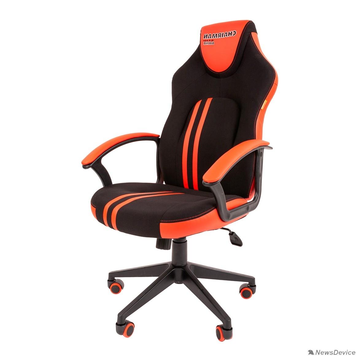 Офисные кресла Кресло Chairman    game 26  Россия черн.красный (7053961)