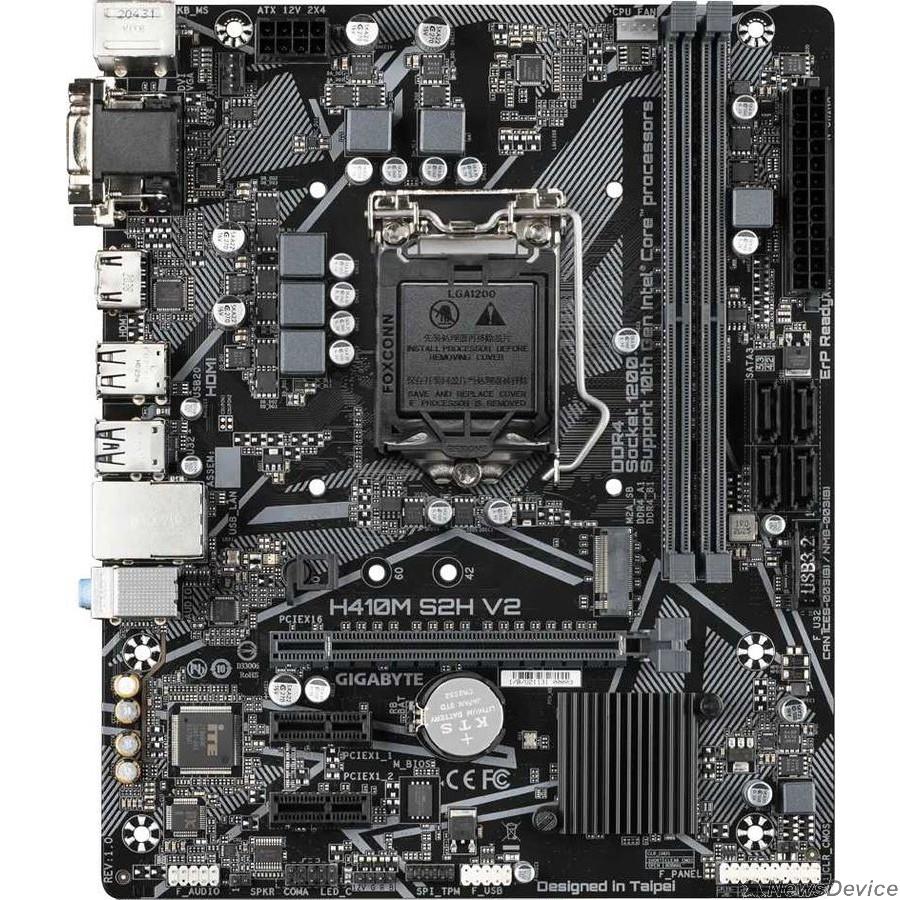 Материнская плата Gigabyte H410M S2H V2 Soc-1200 Intel H470 2xDDR4 mATX AC`97 8ch(7.1) GbLAN+VGA+DVI+HDMI