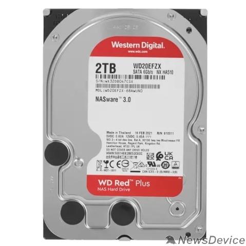 "Жесткий диск 2TB WD NAS Red Plus (WD20EFZX) Serial ATA III, 5400- rpm, 256Mb, 3.5"""