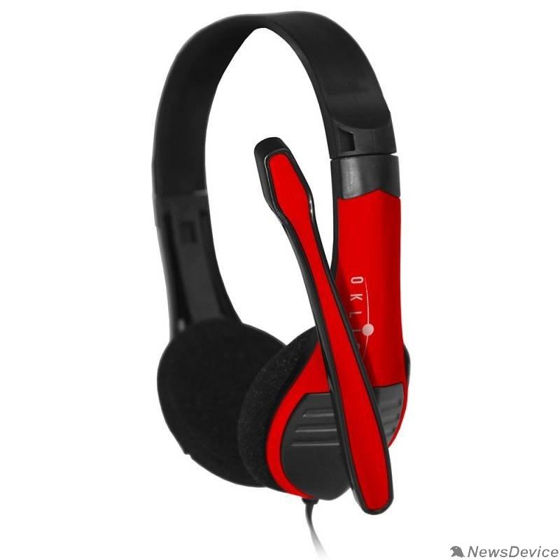 Наушники и микрофоны Oklick HS-M150 черный 2.2м накладные оголовье (NO-003N)