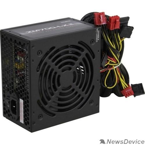 Блок питания Блок питания Zalman ZM700-LXII <700W, (20+4+4+4) pin, 4x(6+2) pin, 6xSATA, 5xMolex, FDD, 14 см, кабель питания, 87%, Act
