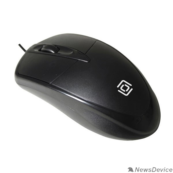 Мышь Oklick 125M черный оптическая (1200dpi) USB (2but) 1175317