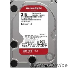 "Жесткий диск 3TB WD NAS Red Plus (WD30EFZX) Serial ATA III, 5400- rpm, 256Mb, 3.5"""