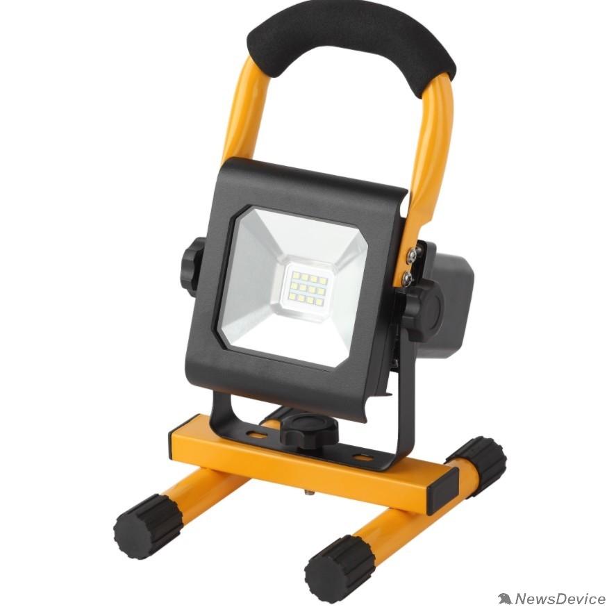 Прожекторы, светильники для уличного освещения ЭРА Б0032165  Прожектор светодиодный уличный 10Вт 900Лм 6500K аккум 2,5ч LPR-10-6500K-А-M SMD PRO