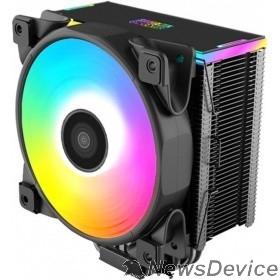 Вентиляторы PCCooler Кулер GI-D56A HALO RGB LGA2066/2011/1366/115x/775/AM4/3/3+/2/2+/FM1/2/2+ (12 шт/кор, TDP 160W, 120mm PWM VortexPro RGB FAN, 5 тепловых трубок 6мм, 1000-2000RPM, 29.1dBa)