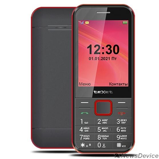 Мобильный телефон TEXET TM-302 мобильный телефон цвет чёрный-красный