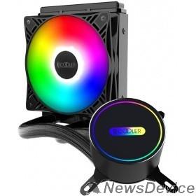 Вентиляторы PCCooler Комплект водяного охлаждения GI-CL120vc LGA2066/2011/1366/115х/775/TR4/AM4/FM1/2/2+/AM2/2+/3/3+ (8шт/кор, TDP 180W, 1x120mm FIXED LED PWM FAN) RET