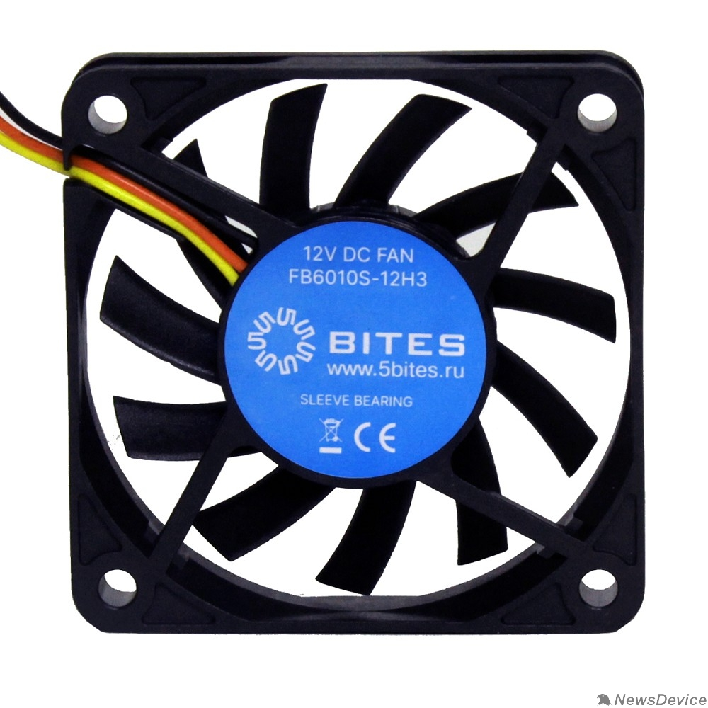 Вентиляторы 5bites Вентилятор FB6010S-12H3 60X10 / SLEEVE / 3800RPM / 3P
