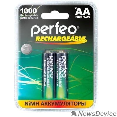 Аккумулятор Perfeo AA1000mAh/2BL  Аккумулятор Пластик