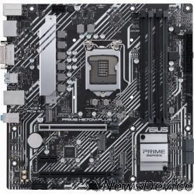 Материнская плата Материнская плата Asus PRIME H570M-PLUS Soc-1200 Intel H570 4xDDR4 mATX AC`97 8ch(7.1) GbLAN RAID+DVI+HDMI+DP