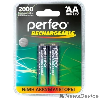 Аккумулятор Perfeo AA2000mAh/2BL  Аккумулятор Пластик