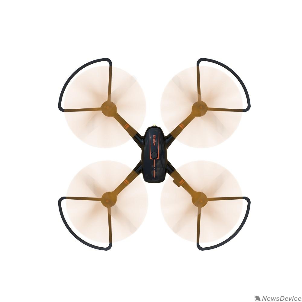 Радиоуправляемые игрушки Hiper HQC-0001 SHADOW FPV 1Mpix 720p WiFi ПДУ черный/оранжевый Квадрокоптер - фото 598603