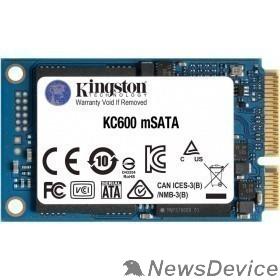 накопитель SSD жесткий диск MSATA 1TB KC600 SKC600MS/1024G KINGSTON