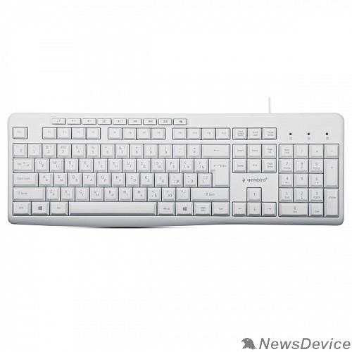 Клавиатура Клавиатура Gembird KB-8430M,USB, белый, 113 клавиш, 9 кнопок управления мультимедиая, кабель 1,5м