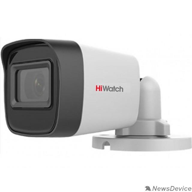Видеонаблюдение HiWatch DS-T500(C) (2.8 mm) 5Мп уличная цилиндрическая HD-TVI камера