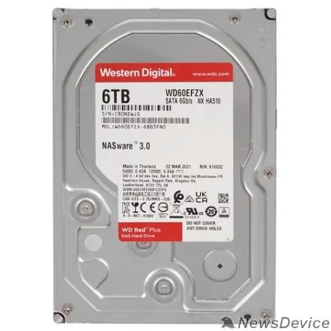 "Жесткий диск 6TB WD NAS Red Plus (WD60EFZX) Serial ATA III, 5640- rpm, 256Mb, 3.5"""