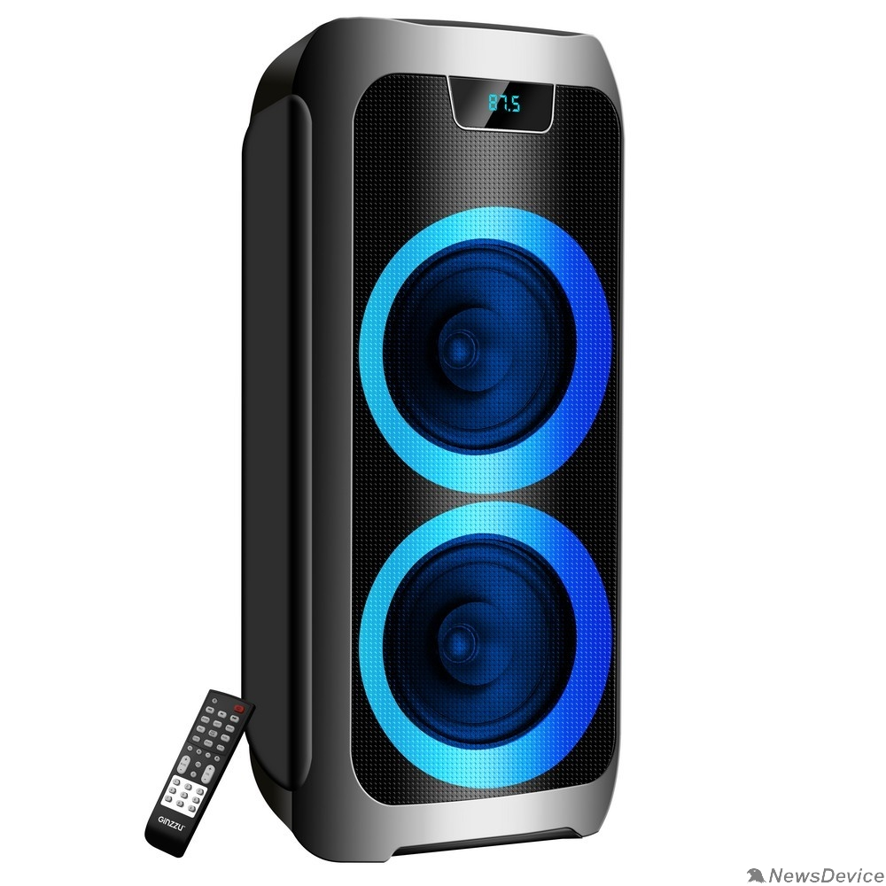 Колонки Ginzzu Ginzzu GM-211, Акустическая система Midi, RGB/BT/USB/TF/FM/ДУ