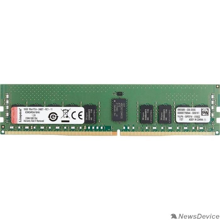 Модуль памяти Kingston DRAM 16GB 2400MHz DDR4 ECC Reg CL17 DIMM 1Rx4 Hynix D IDT EAN: 740617308228  KSM24RS4/16HDI