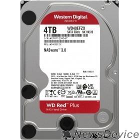 "Жесткий диск 4TB WD NAS Red Plus (WD40EFZX) Serial ATA III, 5400- rpm, 128Mb, 3.5"""