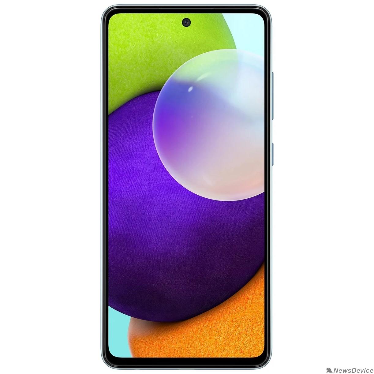 Мобильный телефон Samsung Galaxy A52 (2021) 4/128Gb SM-A525F голубой (SM-A525FZBDSER)