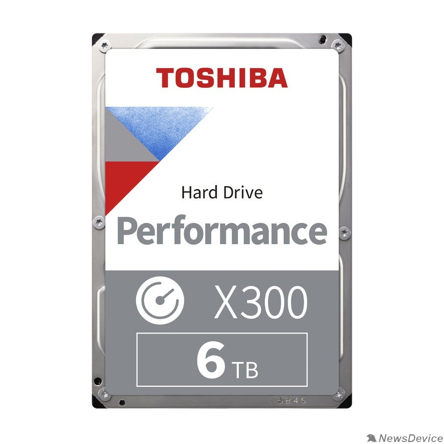"Жесткий диск 6TB Toshiba X300 (HDWR160UZSVA) SATA 6.0Gb/s, 7200 rpm, 256Mb buffer, 3.5"""
