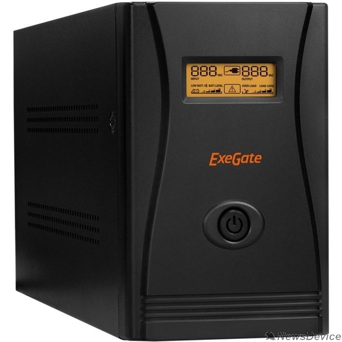 ИБП Exegate EP287659RUS ИБП ExeGate SpecialPro Smart LLB-3000.LCD.AVR.C13.RJ.USB <3000VA/1800W, LCD, AVR, 6*IEC-C13, RJ45/11, USB, Black>