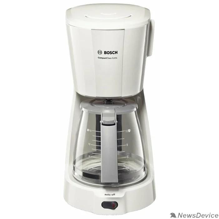 Кофеварка BOSCH (TKA3A031) Кофеварка, капельная,1100 Вт,1,25л  белый