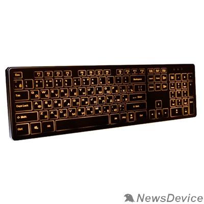 Клавиатура Dialog Katana Клавиатура KK-ML17U BLACK  - Multimedia, с янтарной подсветкой клавиш, USB, черная