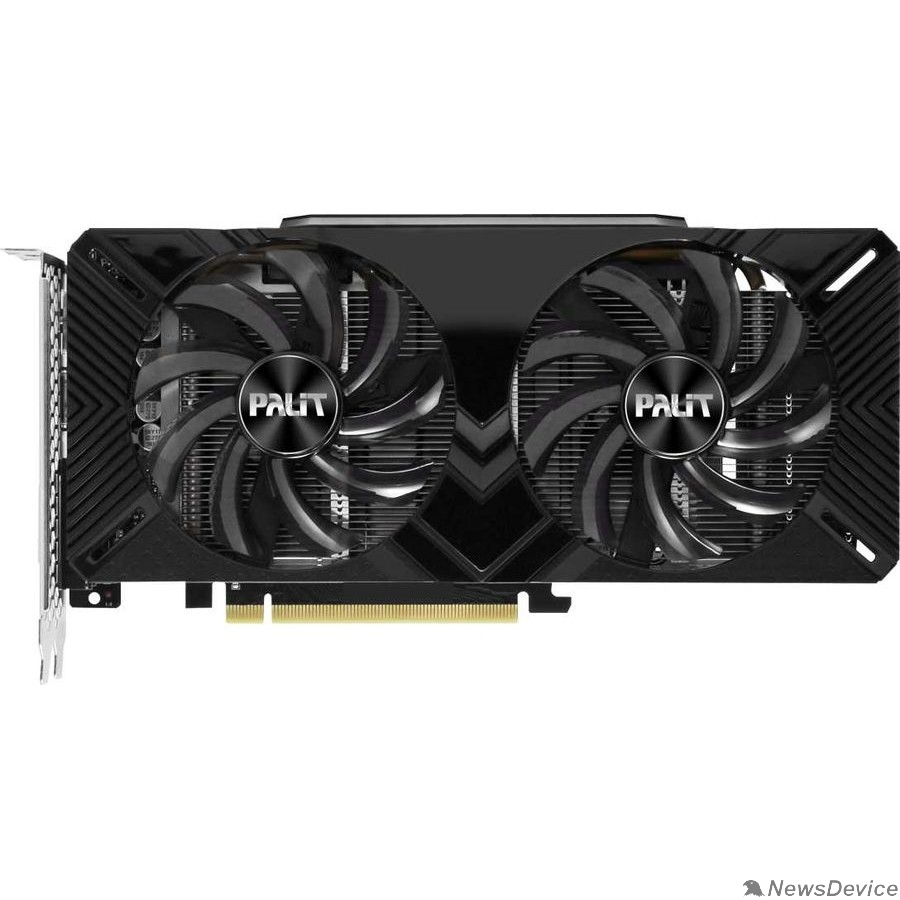Видеокарта PALIT GeForce GTX PA-GTX1660 DUAL OC 6G NV GTX1660 6144Mb 192 GDDR5 1530/8000 DVIx1/HDMIx1/DPx1 NE51660S18J9-1161C