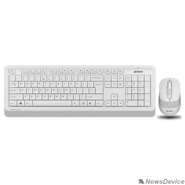 Клавиатура Клавиатура + мышь A4Tech Fstyler FG1010 клав:белый/серый мышь:белый/серый USB беспроводная Multimedia