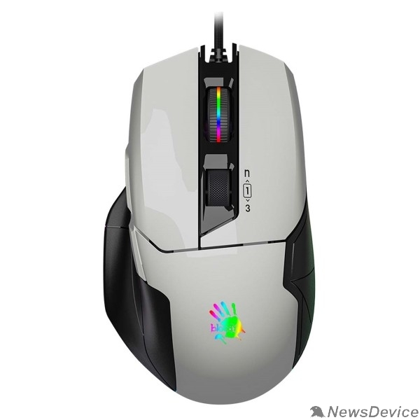 Мышь A-4Tech Мышь Bloody W70 Max white оптическая (10000dpi) USB (10but) 1431297