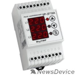 DigiTOP Реле, терморегуляторы, таймеры DigiTOP VP-3F10A Реле напряжения трехфазное на DIN-рейку, 50-400В, макс. 16А, 5-600 сек.