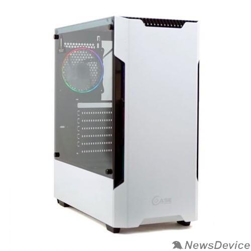 Корпус Powercase Корпус Alisio X3 White ARGB, Tempered Glass, 2х 120mm fan + 1x 120mm ARGB fan, ARGB Strip inside, белый, ATX  (CAXW-F2A1)