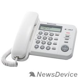 Телефон Panasonic KX-TS2356RUW (белый) АОН,Caller ID,ЖКД,блокировка набора,выключение микрофона