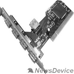 Контроллер ORIENT NC-612 OEM USB2.0 PCI card, 4 port-ext, 1 port-int
