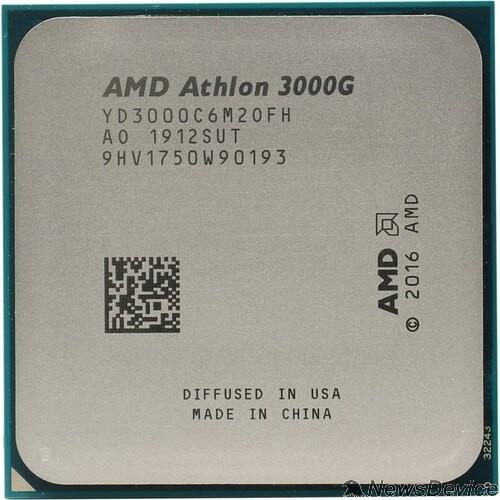 Процессор CPU AMD Athlon 3000G (YD3000C6M2OFB) 3.5GHz/100MHz/Radeon Vega 3 OEM