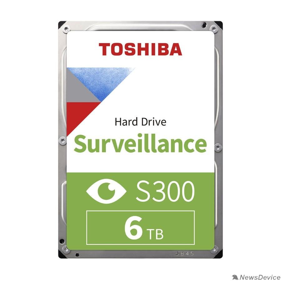 "Жесткий диск 6TB Toshiba Surveillance S300 (HDWT860UZSVA/HDKPB06Z0A01S) SATA 6.0Gb/s, 5400 rpm, 256Mb buffer, 3.5"" для видеонаблюдения"