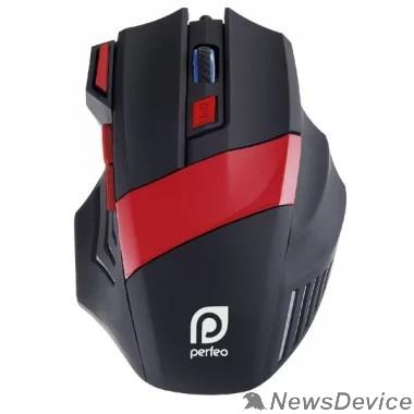 "Клавиатуры, мыши Perfeo мышь оптическая ""GEAR"", 7 кн, USB,чёрн-красн, GAME DESIGN, подсветка 6 цвет PF_5019"