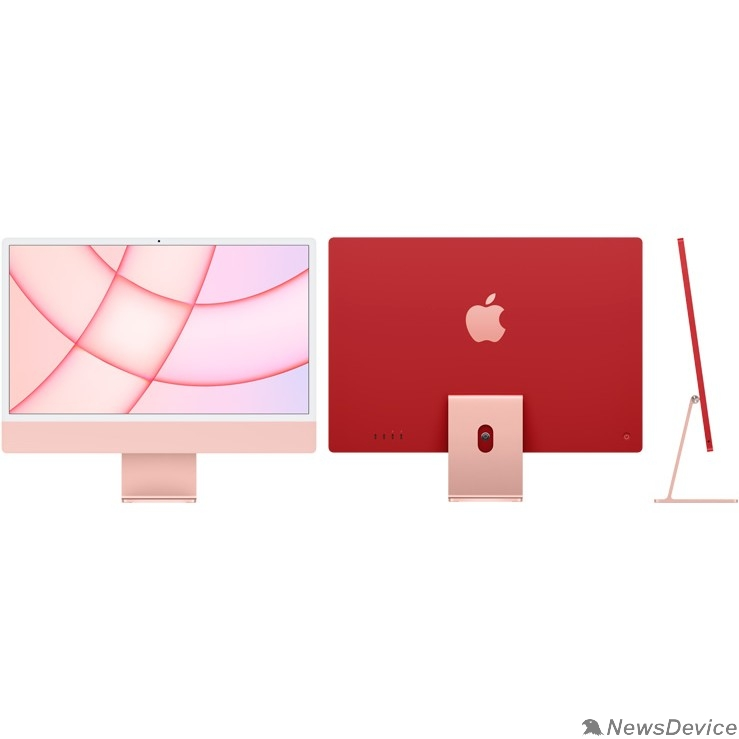"Моноблок Apple iMac Z12Z000AS, Z12Z/3 Pink 24"" Retina 4.5K M1 chip with 8 core CPU and 8 core/16GB/512GB SSD/LAN (2021)"